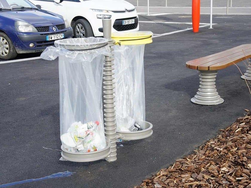 Outdoor metal litter bin BELL'ORA | Litter bin by GHM-ECLATEC