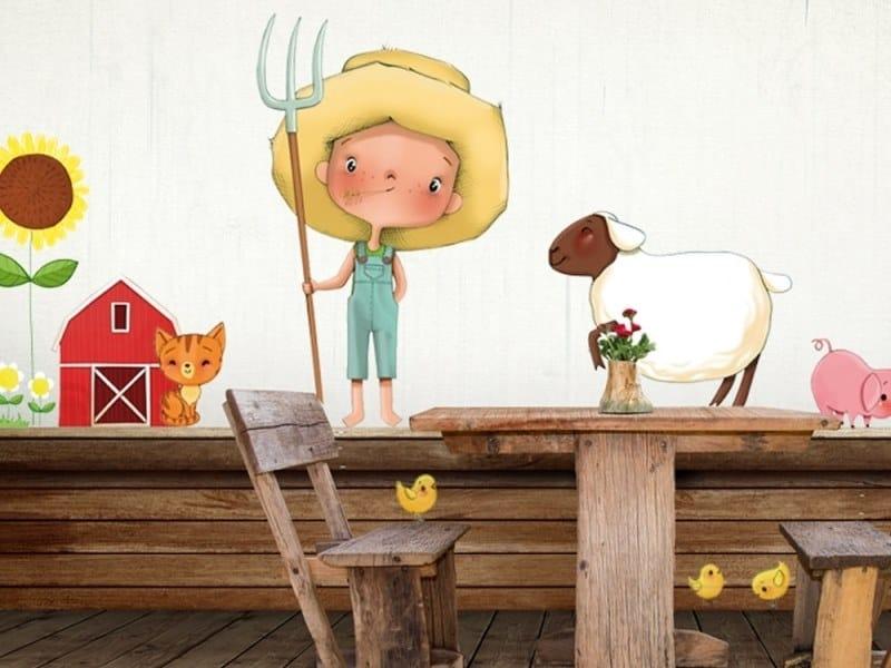 Kids wall sticker LITTLE BOY ON THE FARM by ACTE-DECO