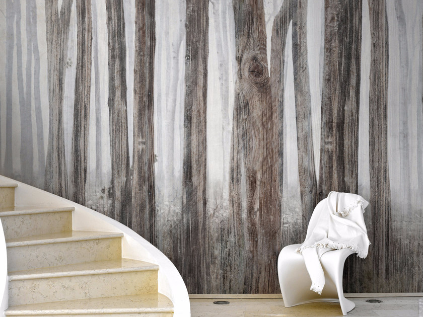 Contemporary style landscape wallpaper LITTLE RED RIDING HOOD by Inkiostro Bianco