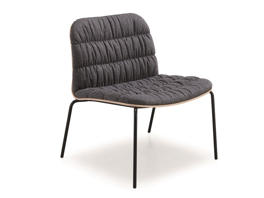 Upholstered fabric armchair LIÙ AT MT by Midj
