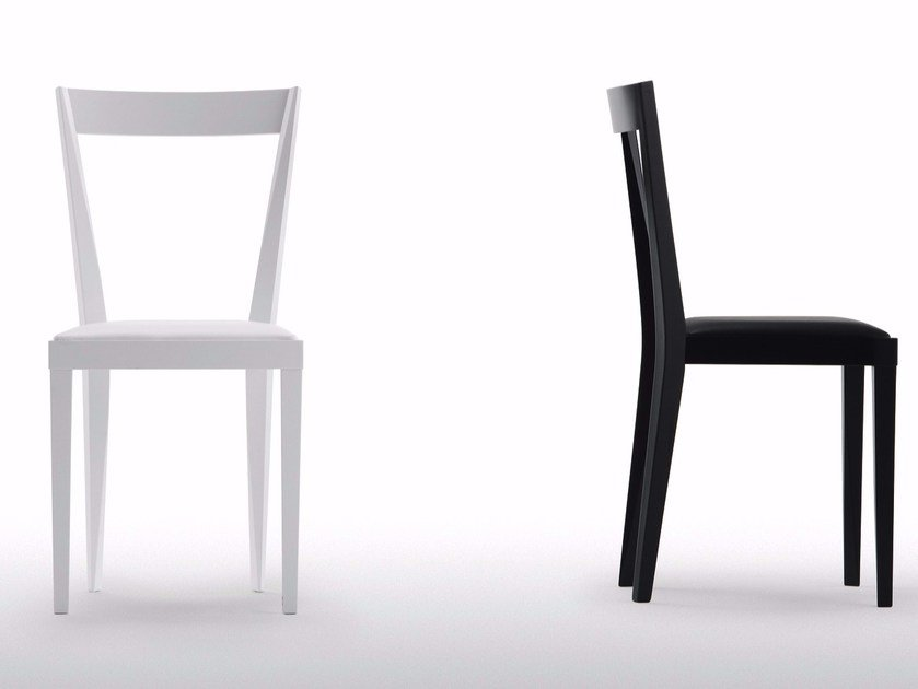 Wooden chair with integrated cushion LIVIA | Chair with integrated cushion by Cizeta L'Abbate