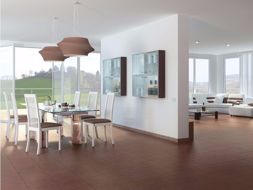 Porcelain stoneware flooring with concrete effect LIVING by Casalgrande Padana