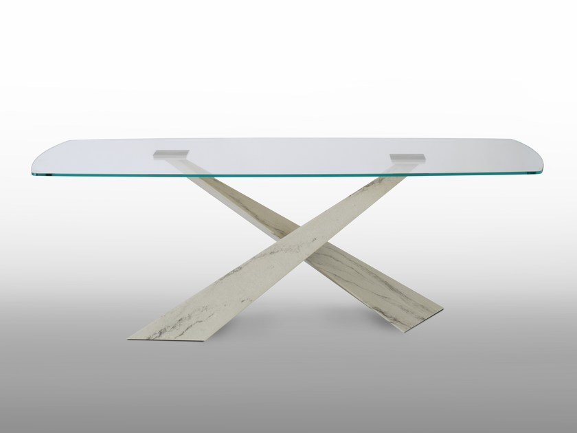 Rectangular crystal table LIVING - Stone and Glass by RIFLESSI