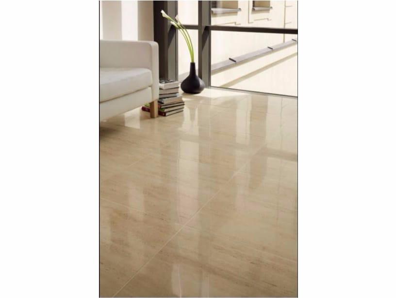 Flooring with stone effect LIVINGSTONE TRAVERTINE | Flooring by tubadzin