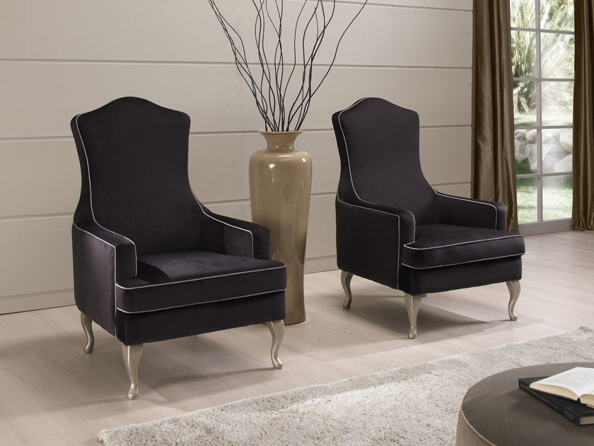 Fabric armchair with armrests LIZ | Armchair by Gold Confort