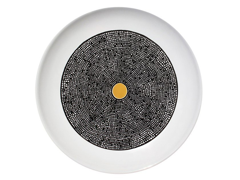 Ceramic dinner plate LOAM by Kiasmo