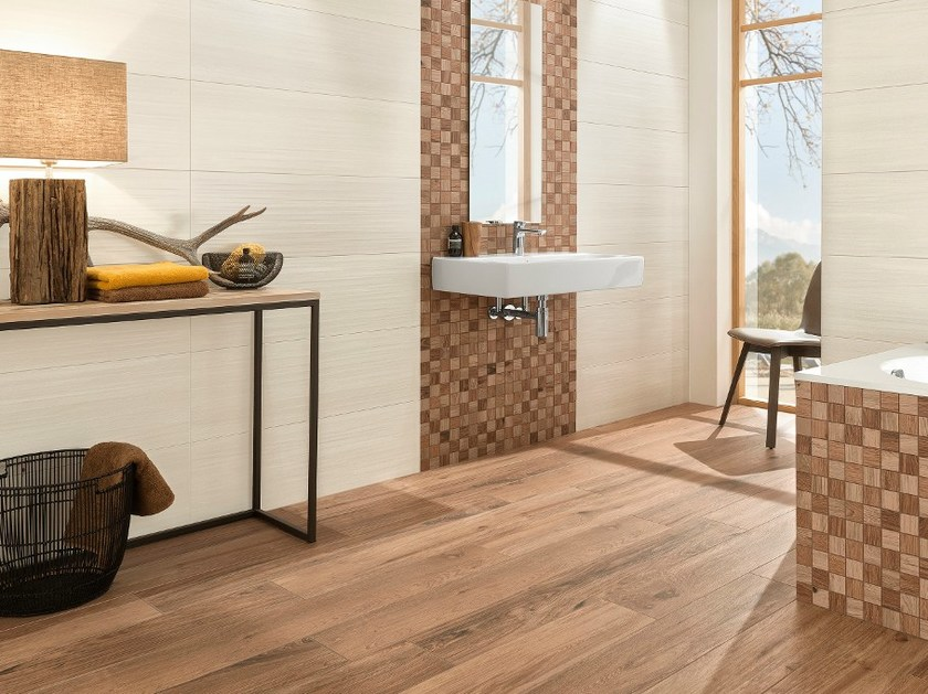 Porcelain stoneware flooring with wood effect LODGE By