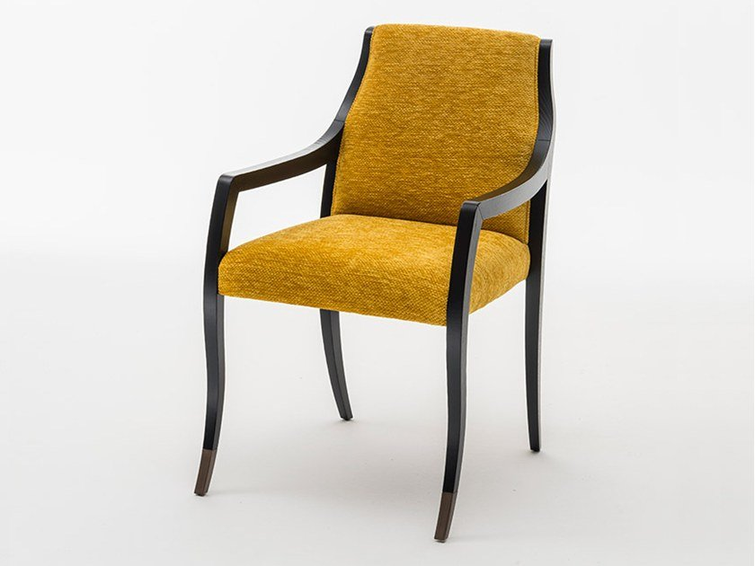 Upholstered fabric chair with armrests LODOVICA | Chair with armrests by OAK
