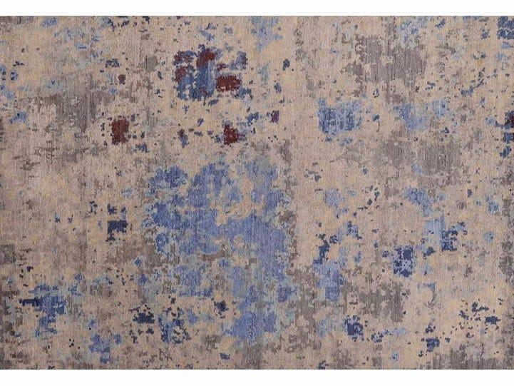 Rectangular Bamboo silk rug LOFT 160A by Mohebban