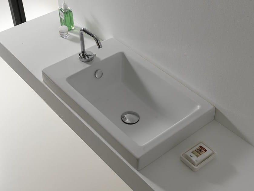 Inset rectangular ceramic washbasin LOFT   Ceramic washbasin by Hidra Ceramica