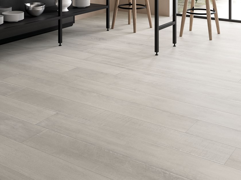 Porcelain stoneware wall/floor tiles with wood effect LOFT Chalk by Italgraniti