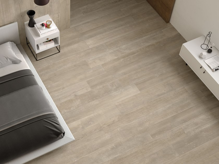 Porcelain stoneware wall/floor tiles with wood effect LOFT Cotton by Italgraniti