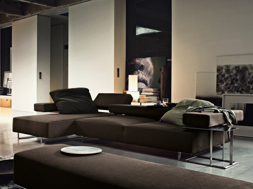 Sectional fabric sofa LOFT   Fabric sofa by Arketipo