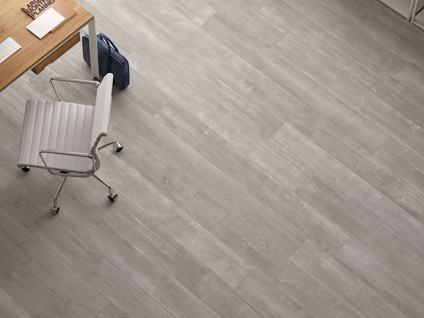 Porcelain stoneware wall/floor tiles with wood effect LOFT Plaster by Italgraniti