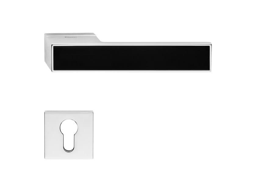 Zamak door handle with lock LOFT ZINCRAL WOOD | Door handle by LINEA CALI'