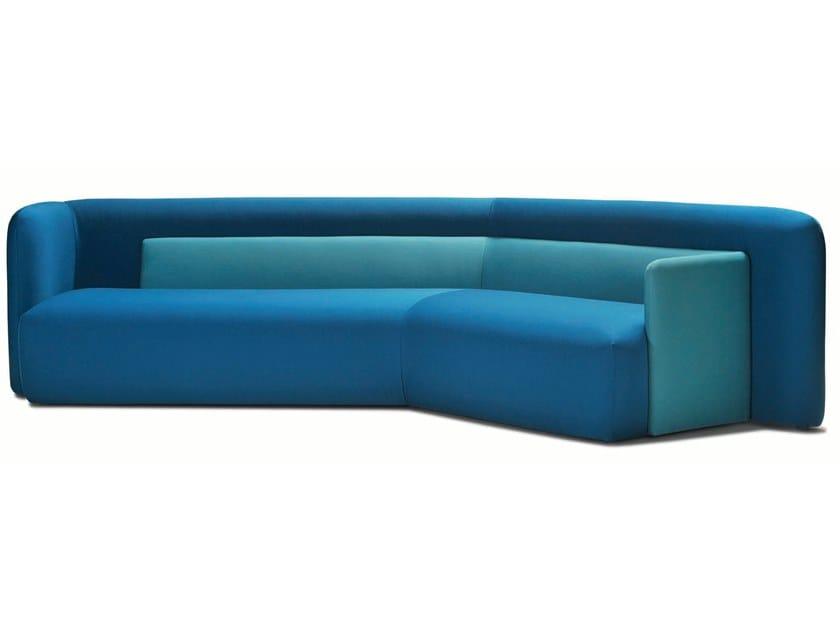 Fabric sofa LOG   Corner sofa by Désio