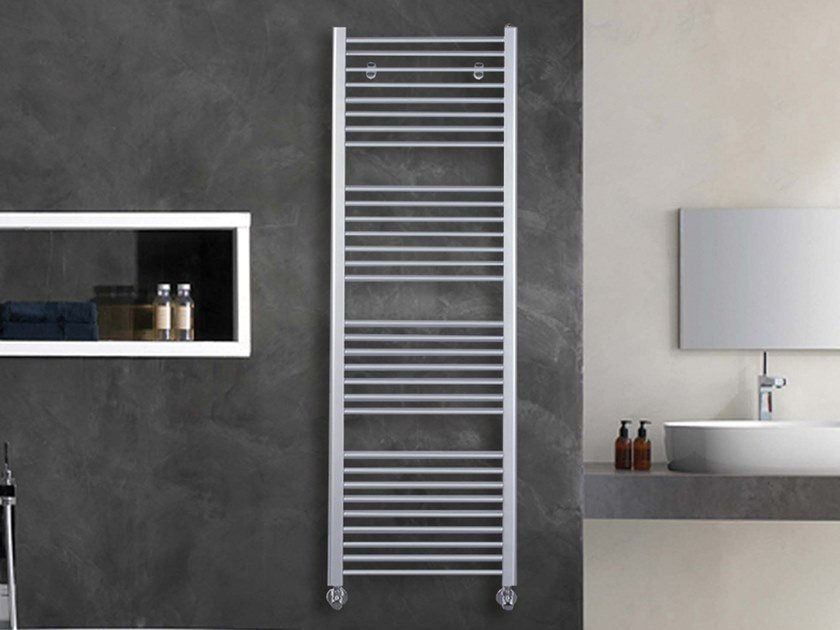 Vertical wall-mounted towel warmer LOGIC by XÒ by Metalform