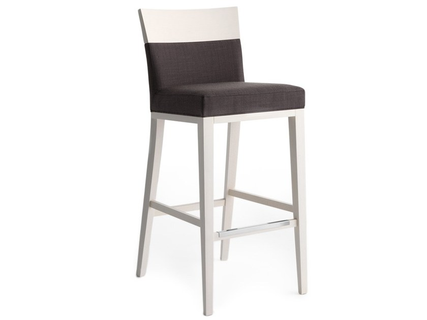 High upholstered stool LOGICA 00988 by Montbel