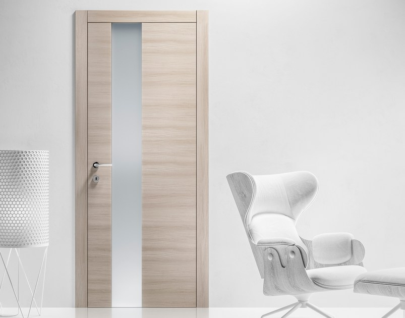 Hinged wood and glass door LOGICA GLASS REPLICA Collection By ...