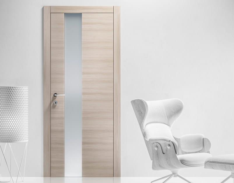 Porta a battente in legno e vetro LOGICA VETRO Collezione REPLICA By ...