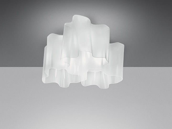 Halogen blown glass ceiling lamp LOGICO 3X120° | Ceiling lamp by Artemide