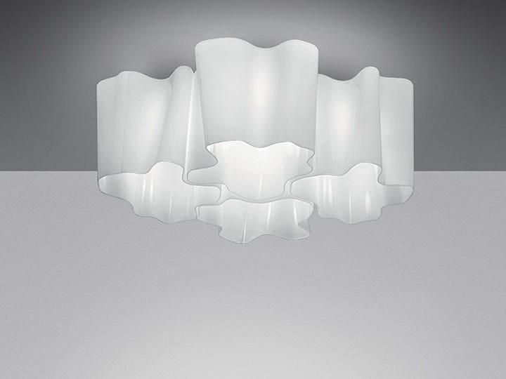 Halogen blown glass ceiling lamp LOGICO 4X90° | Ceiling lamp by Artemide