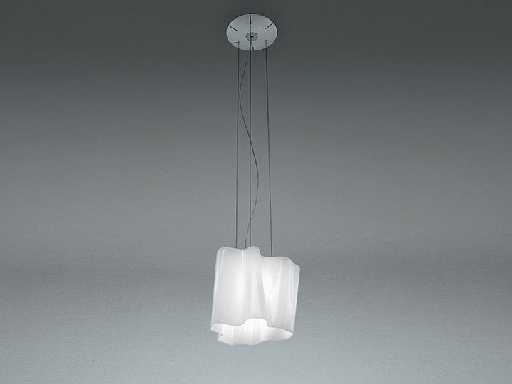 Direct light halogen blown glass pendant lamp LOGICO | Pendant lamp by Artemide