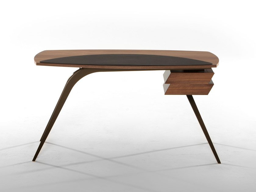 Wooden writing desk with drawers LOGOS by Tonin Casa