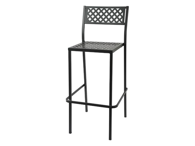 Stackable galvanized steel stool LOLA 75 by RD Italia