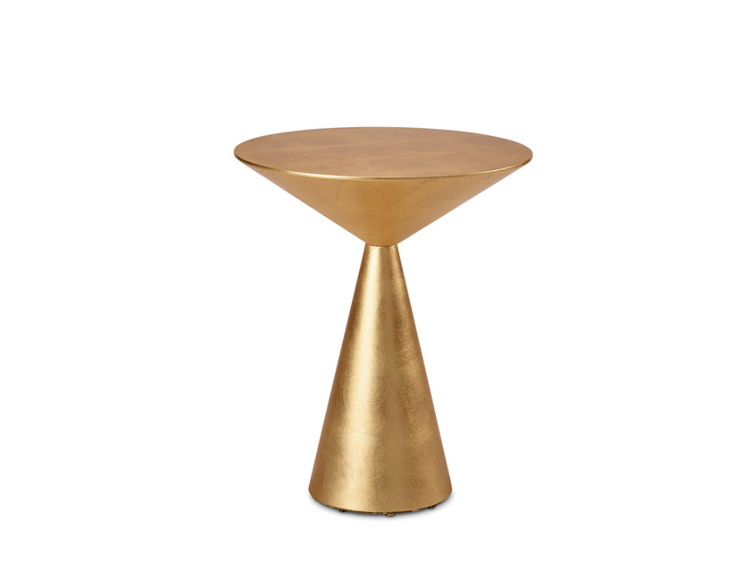 Round Gold Leaf Side Table LOLA | Gold Leaf Coffee Table By HMD INTERIORS