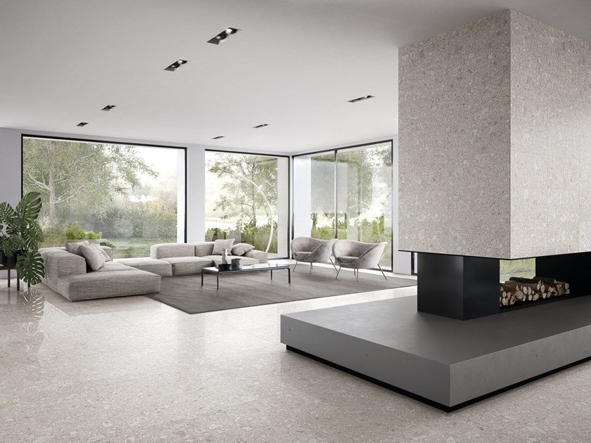 Porcelain stoneware wall/floor tiles LOMBARDA BIANCO by Ergon
