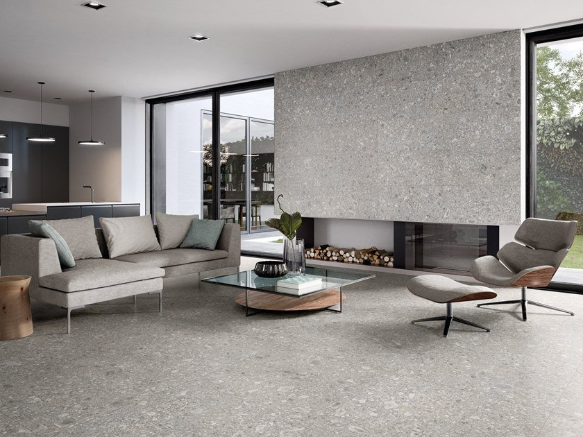 Porcelain stoneware wall/floor tiles LOMBARDA GRIGIO by Ergon