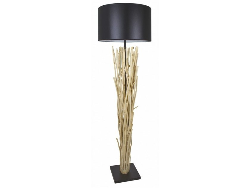 Wooden floor lamp LOMÉ by Flam & Luce