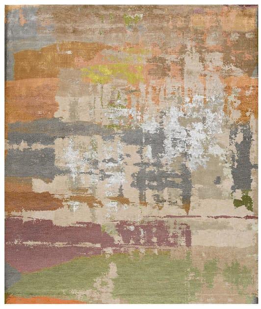 Handmade rectangular rug LOMMA CARLALID by HENZEL STUDIO