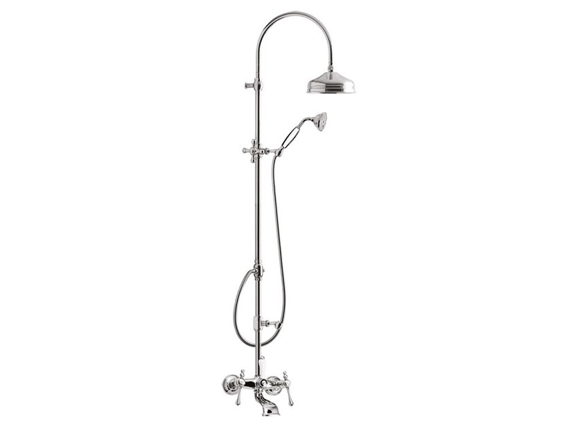 Wall-mounted shower panel with overhead shower LONDRA - 7200WC-S by Rubinetteria Giulini