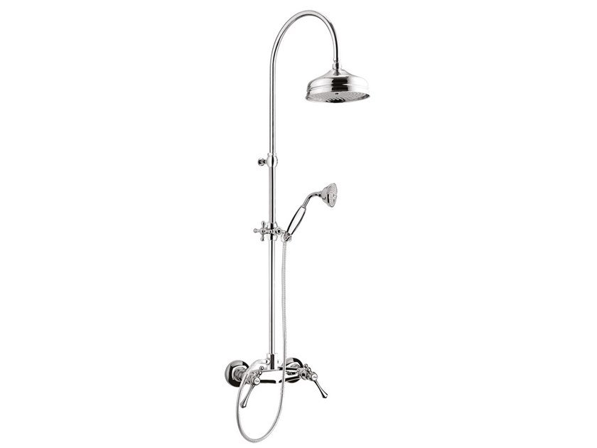 Wall-mounted shower panel with overhead shower LONDRA - 7207WC-S by Rubinetteria Giulini