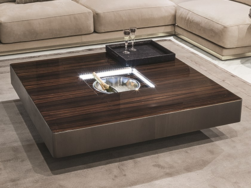 Square Coffee Table With Ice Bucket LONELY | Coffee Table With Ice Bucket  By Longhi