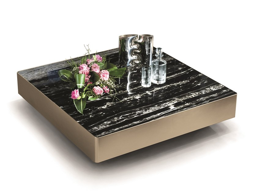 Tavolino quadrato in marmo LONELY | Tavolino quadrato by Longhi