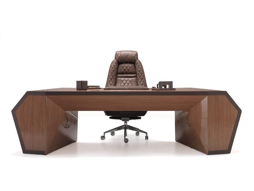 Long Beach Wood Veneer Office Desk Collection By Tonino Lamborghini Casa