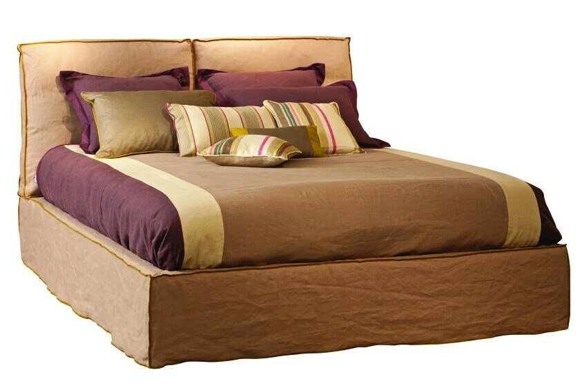 Linen double bed with removable cover LONG ISLAND Nouveaux ...