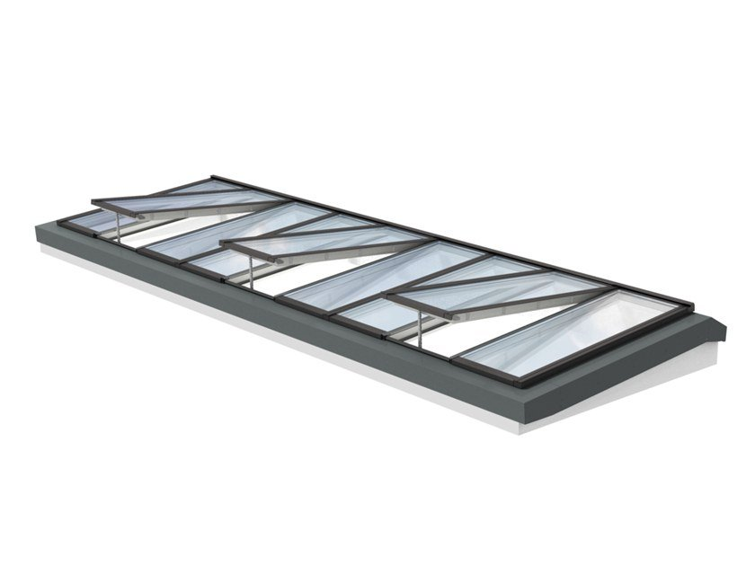 Glass and steel roof window LONGLIGHT 5-25° by Velux Modular Skylights