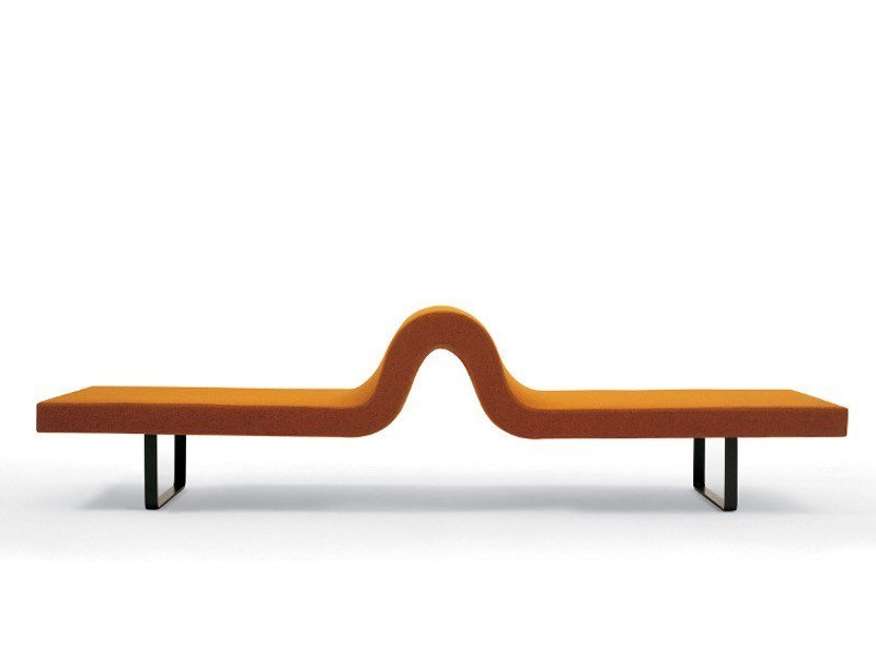 Upholstered fabric bench LONGWAY A by Segis
