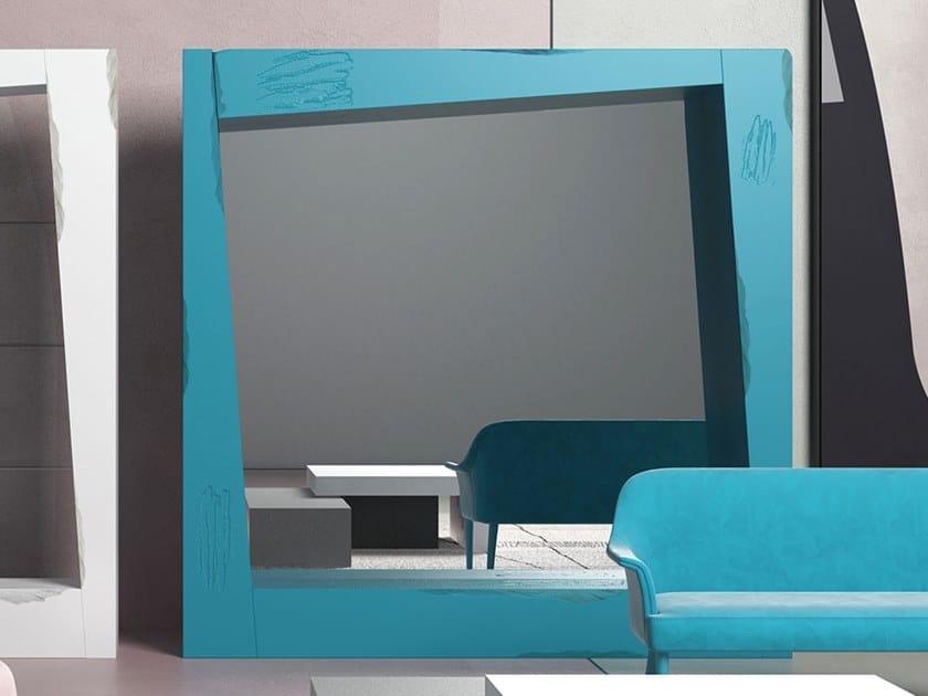 Square mirror LOOK | Square mirror by Adriani e Rossi edizioni