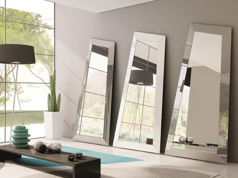 Freestanding framed mirror LOOK | Freestanding mirror by Ozzio Italia