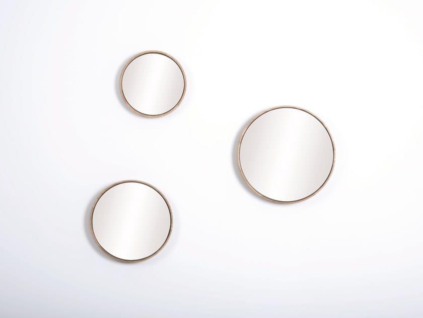 Specchio rotondo da parete con cornice LOOK | Specchio by Gazzda