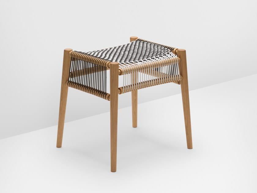Low oak stool LOOM | Oak stool by H Furniture