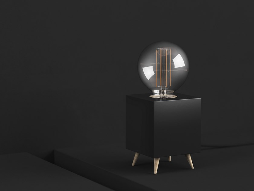 LED table lamp LOOMACUBE CC - BLACK by LOOMA