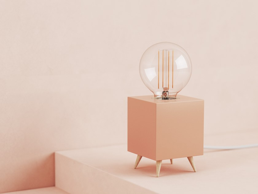 LED table lamp LOOMACUBE CC - LIGHT TERRACOTTA by LOOMA
