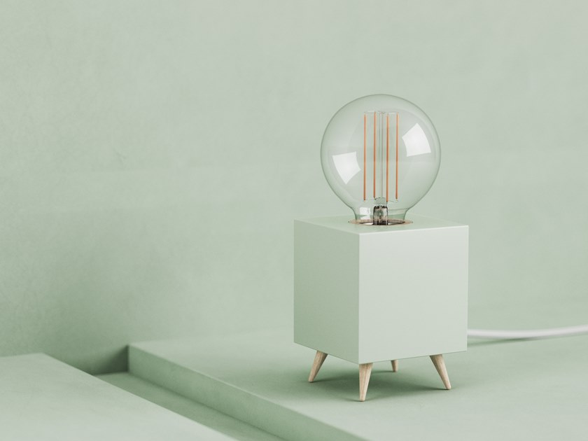 LED table lamp LOOMACUBE CC - MINT by LOOMA