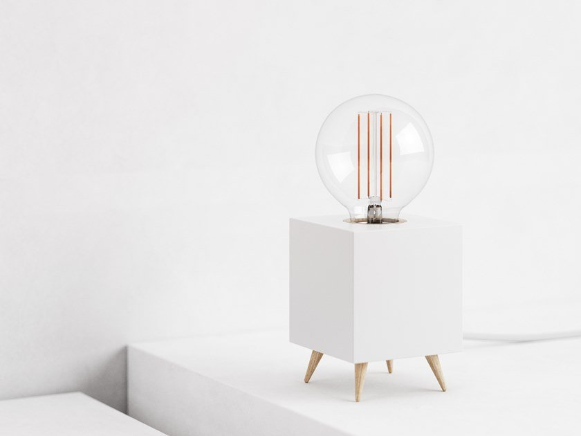 LED table lamp LOOMACUBE CC - WHITE by LOOMA
